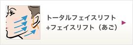 トータルフェイスリフト                                                               +フェイスリフト(あご)